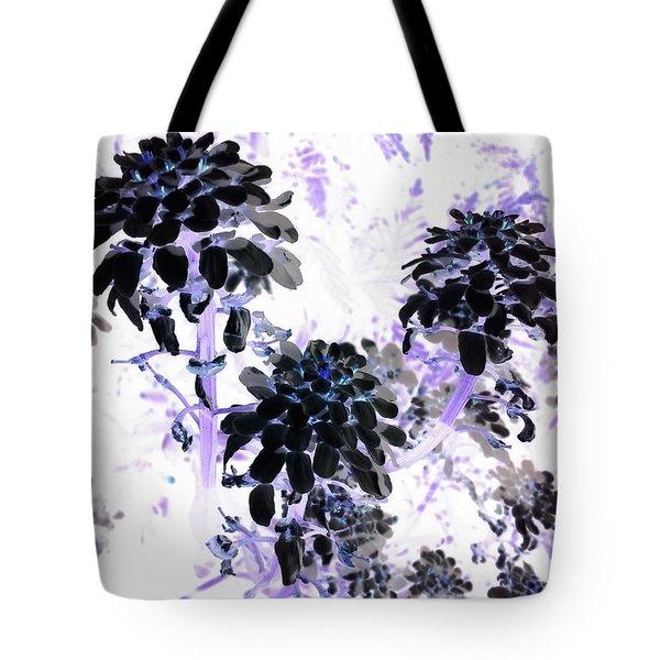 Black Blooms I I Tote Bag