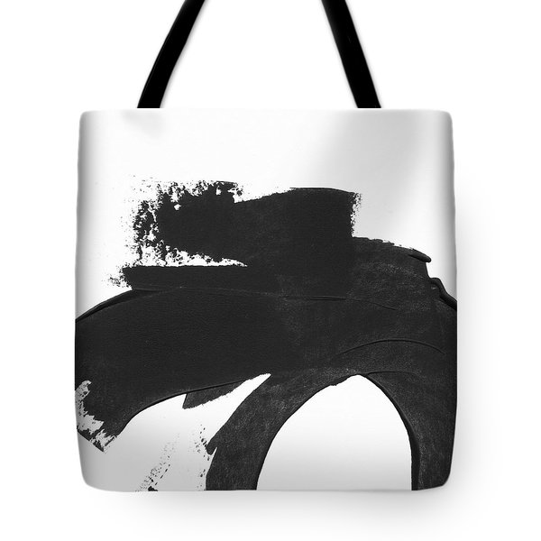Black Brushstroke 4- Art By Linda Woods Tote Bag