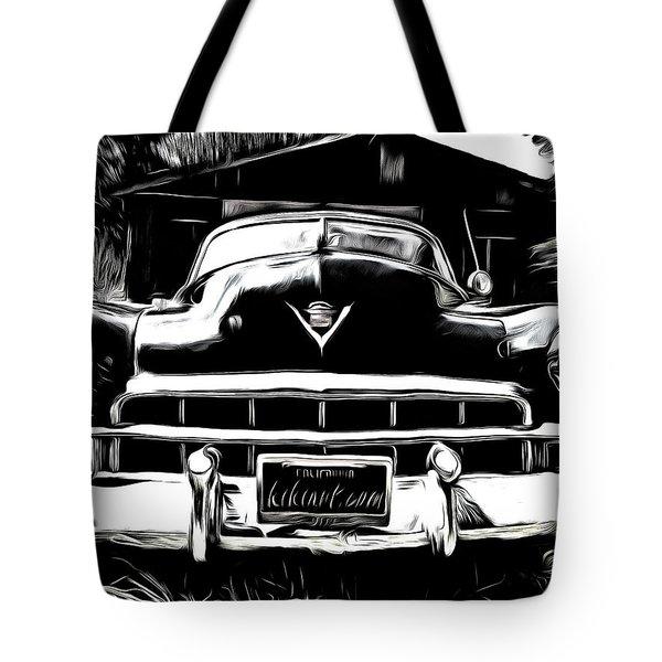 Black Cadillac Tote Bag