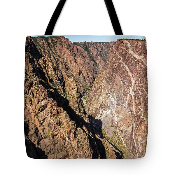 Tote Bag featuring the photograph Black Canyon Of The Gunnison by Lon Dittrick