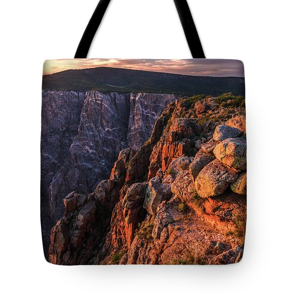 Tote Bag featuring the photograph Black Canyon Sunset Glow by Lon Dittrick