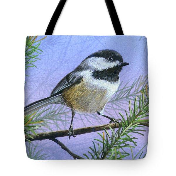 Black Cap Chickadee Tote Bag