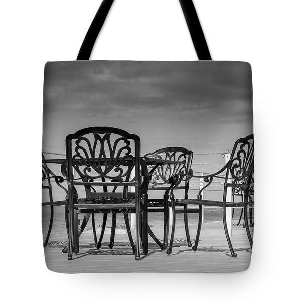 Black Cast Iron Seats Tote Bag