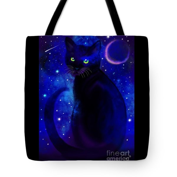 Tote Bag featuring the painting Black Cat Blues  by Nick Gustafson