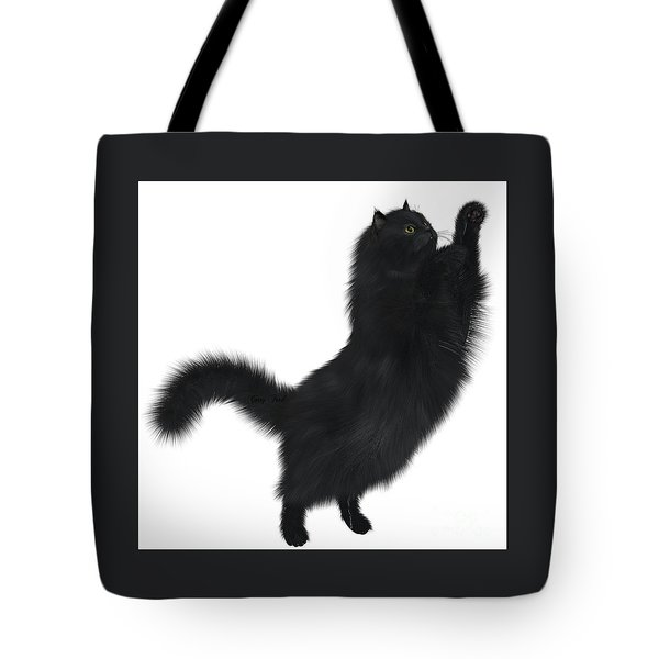 Black Cat Tote Bag by Corey Ford