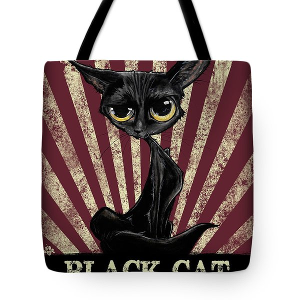 Black Cat Revolution Tote Bag