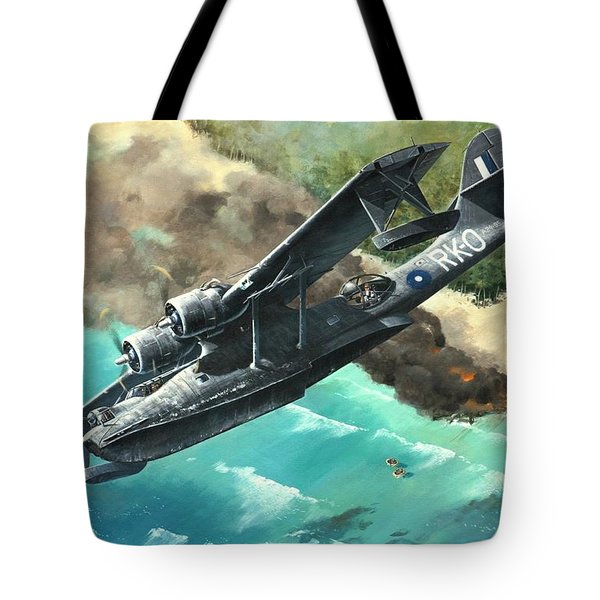 'black Cat To The Rescue' Tote Bag
