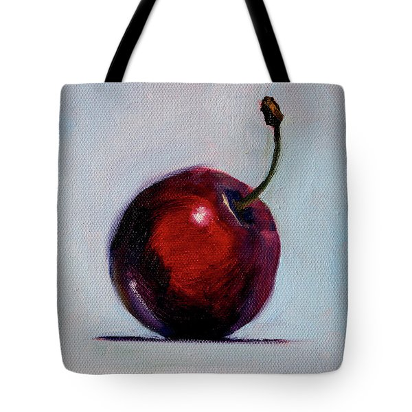 Tote Bag featuring the painting black Cherry by Nancy Merkle