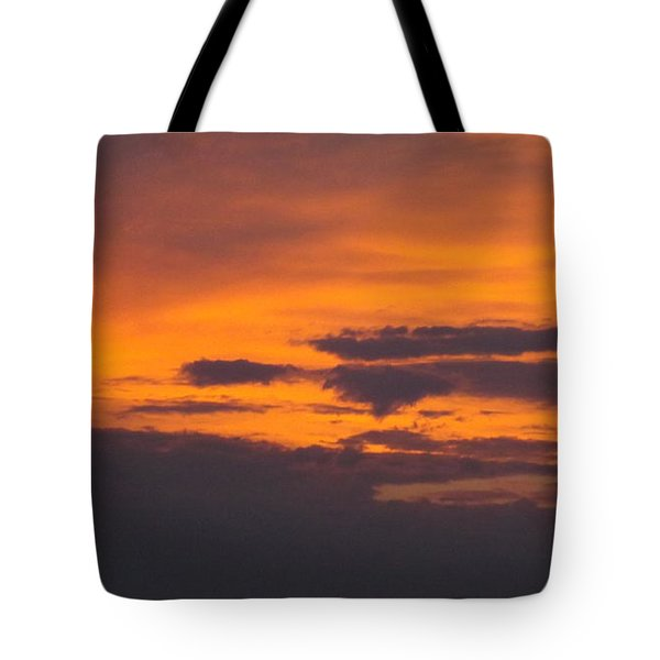 Black Cloud Sunset  Tote Bag