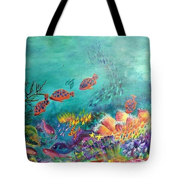 Black Coral Tote Bag