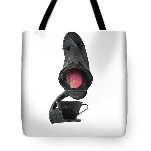 Black Coughee Tote Bag by Michael Jude Russo