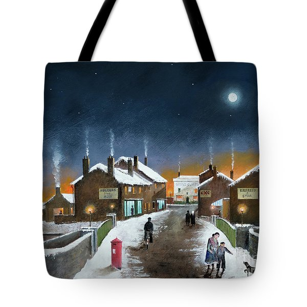 Black Country Winter Tote Bag
