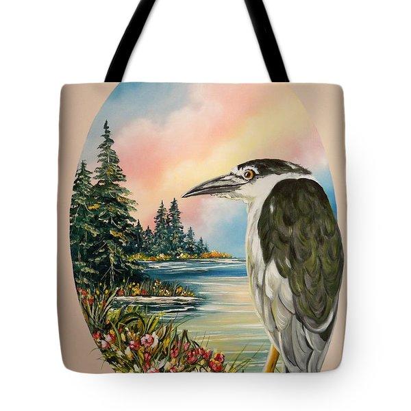 Flying Lamb Productions                     Black Crowned Heron Tote Bag