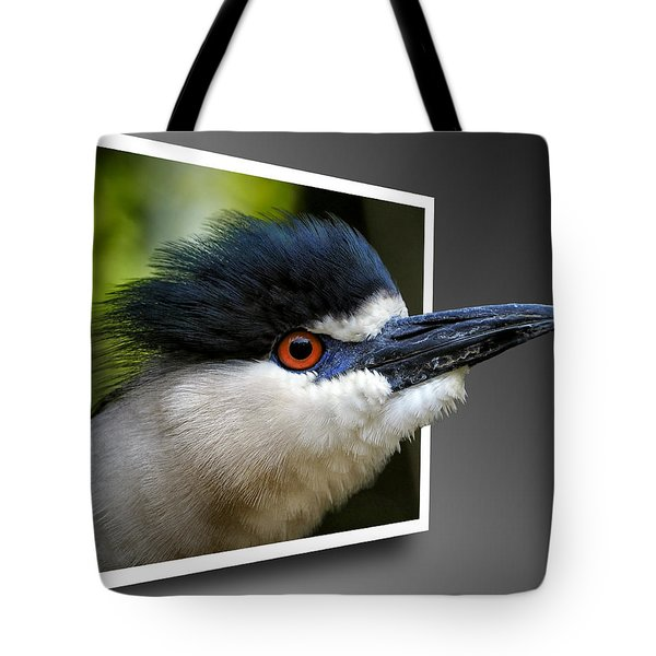 Black Crowned Night Heron Out Of Bounds Tote Bag