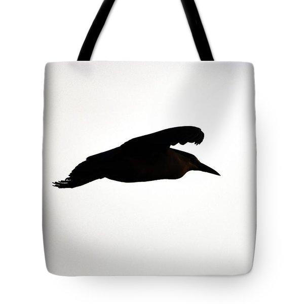 Black-crowned Night Heron Silhouette Tote Bag