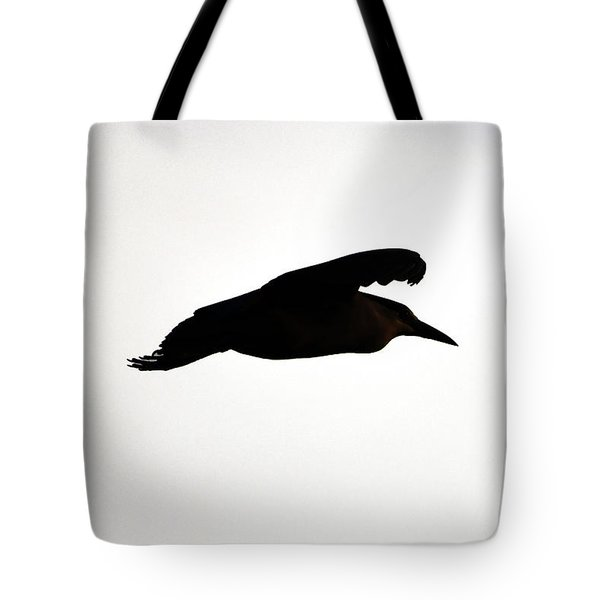 Black-crowned Night Heron Silhouette Tote Bag