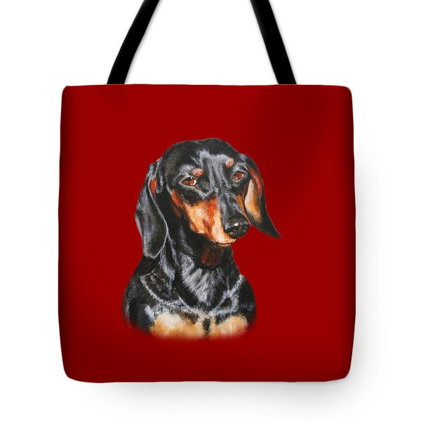 Black Dachshund Accessories Tote Bag by Jimmie Bartlett