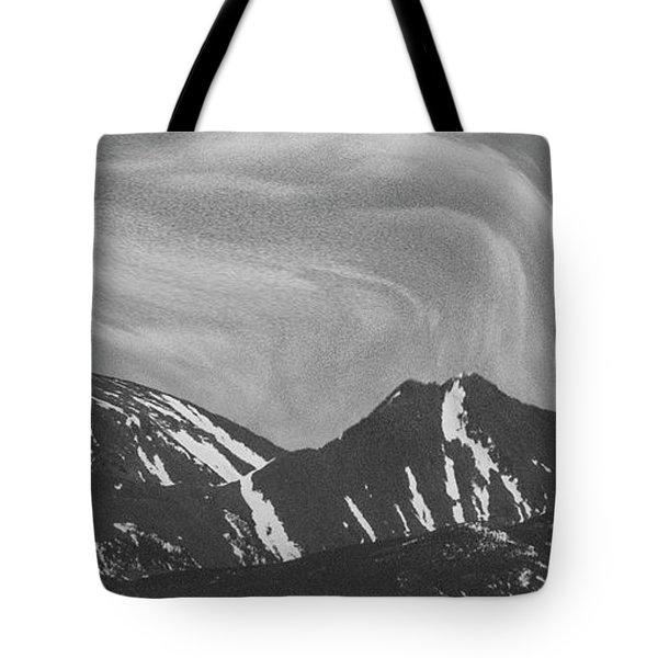 Black Day Mountain Tote Bag