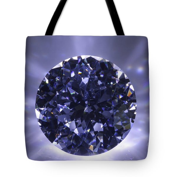 Black Diamond Shine Aura. Tote Bag by Atiketta Sangasaeng