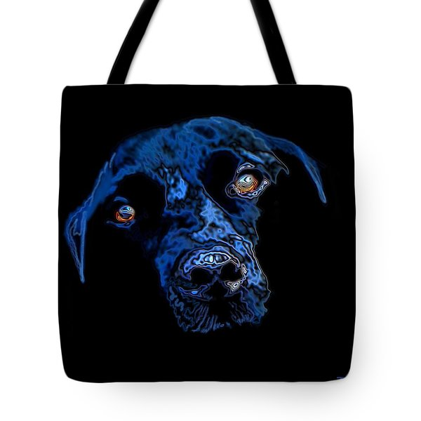 Black Dog Tote Bag by Jann Paxton