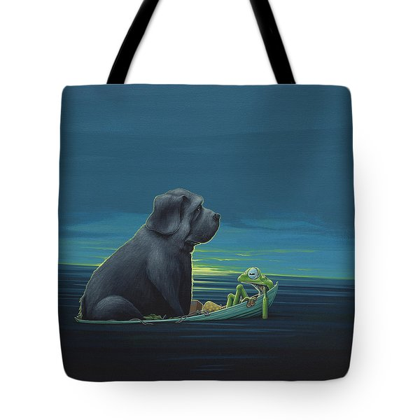 Black Dog Tote Bag by Jasper Oostland