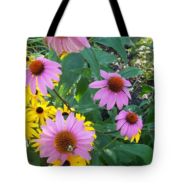Black Eye Susans And Echinacea Tote Bag
