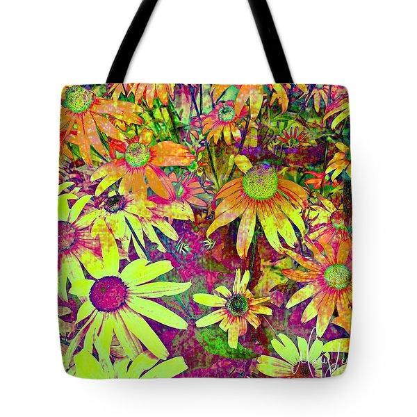 Black-eyed Susan   Abstract  Tote Bag
