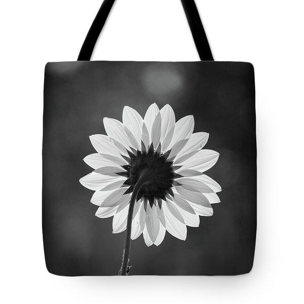Black-eyed Susan - Black And White Tote Bag