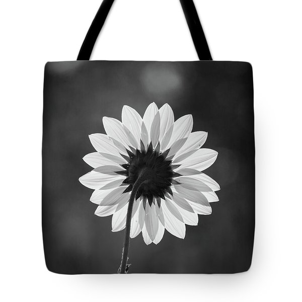 Black-eyed Susan - Black And White Tote Bag