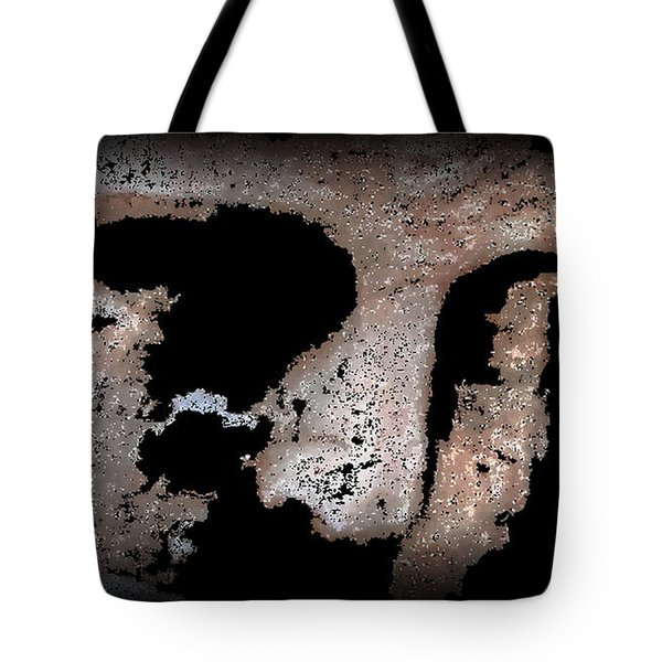 Tote Bag featuring the mixed media Black Face by Yury Bashkin