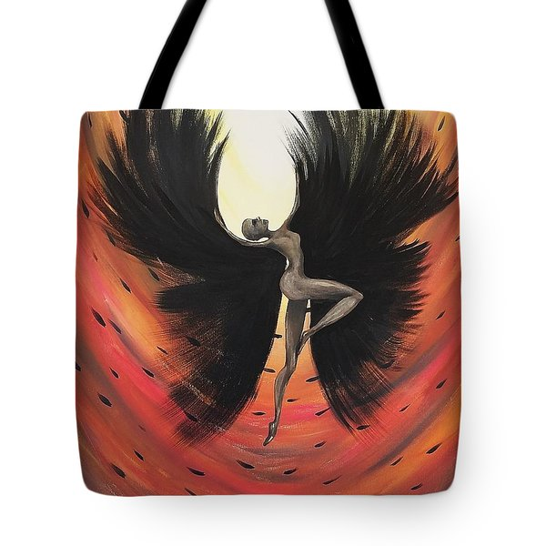 Black Fairy Tote Bag