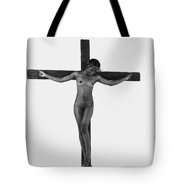 Black Female Jesus Highlight Tote Bag
