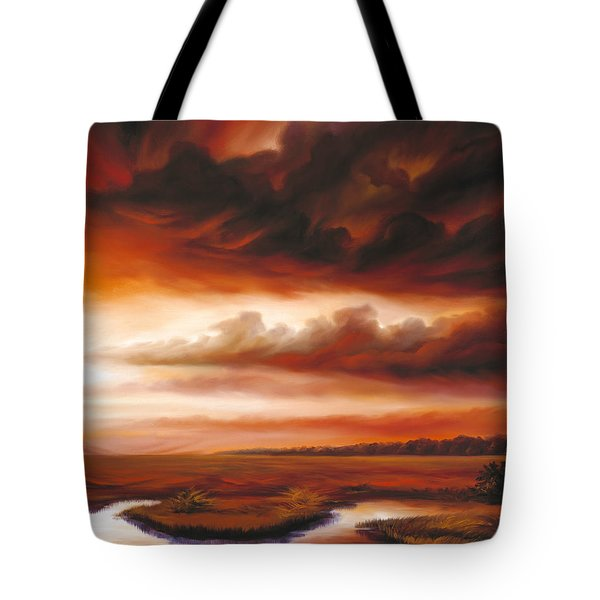 Black Fire Tote Bag by James Christopher Hill