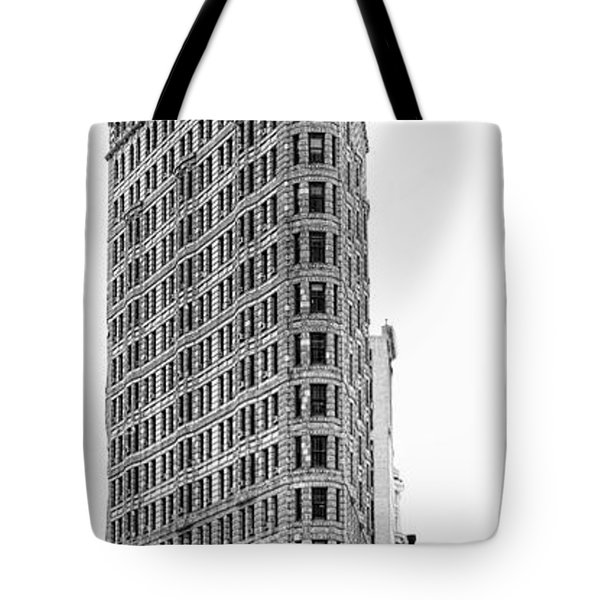 Black Flatiron Building II Tote Bag