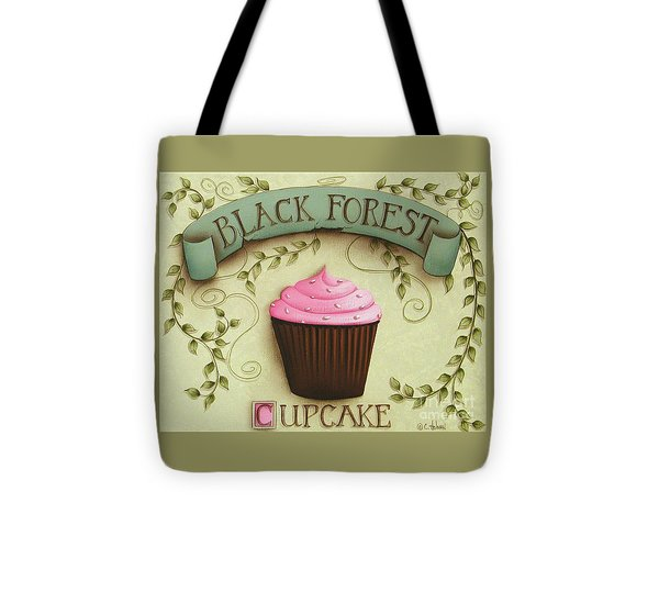 Black Forest Cupcake Tote Bag by Catherine Holman
