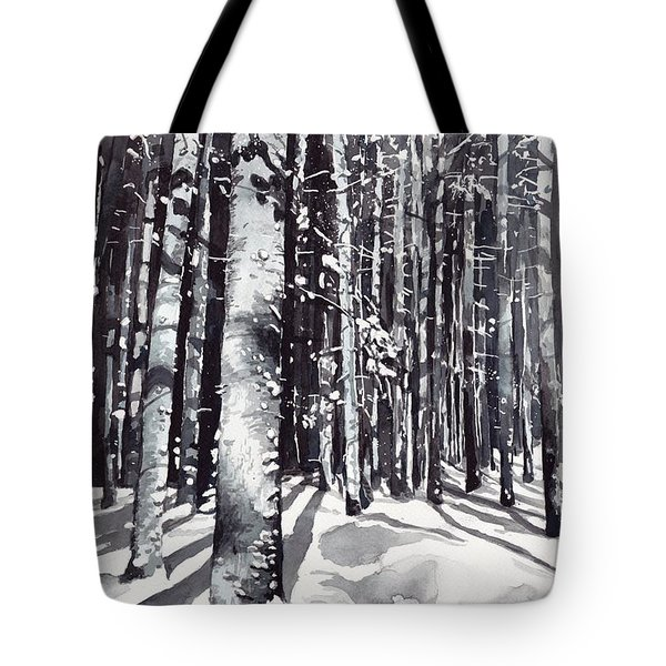 Black Forest Watercolor Tote Bag