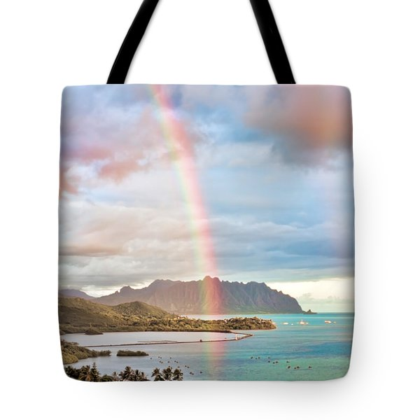 Black Friday Rainbow Tote Bag
