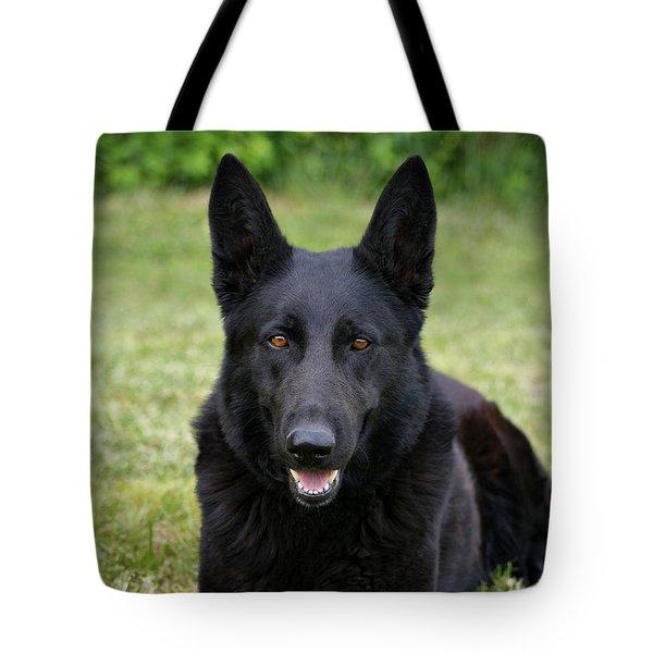 Black German Shepherd Dog II Tote Bag