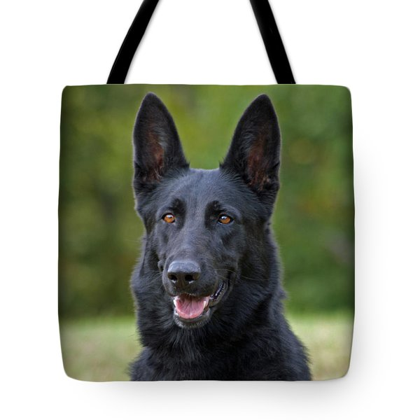 Black German Shepherd Dog Tote Bag