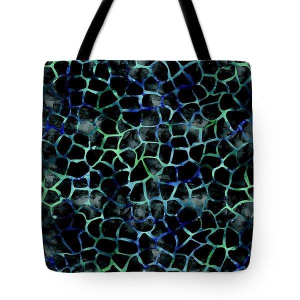 Black Giraffe Print Tote Bag