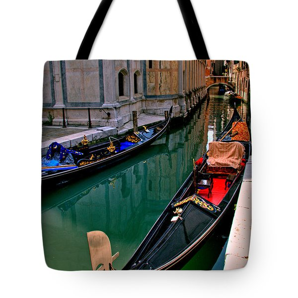 Black Gondola Tote Bag