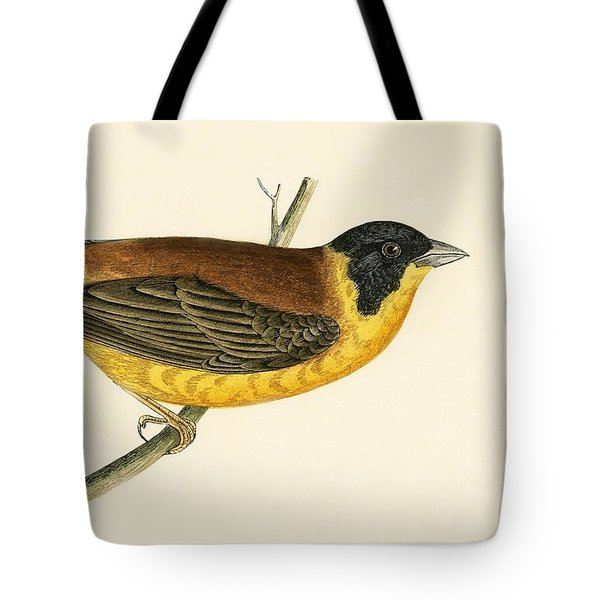 Black Headed Bunting Tote Bag