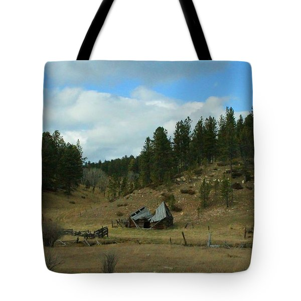 Black Hills Broken Down Cabin Tote Bag