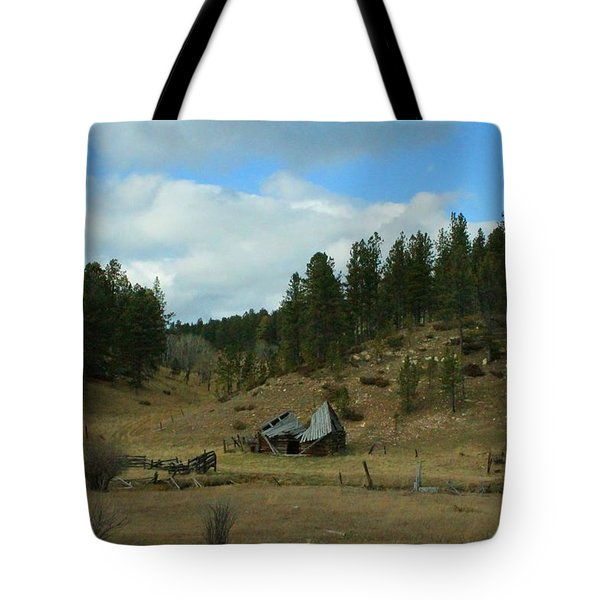 Black Hills Broken Down Cabin Tote Bag