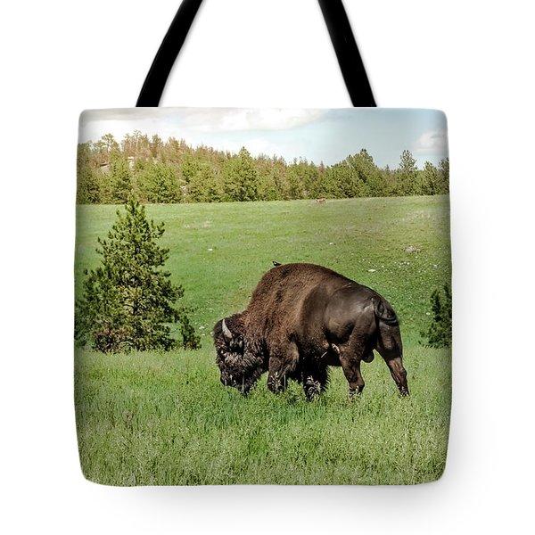 Black Hills Bull Bison Tote Bag