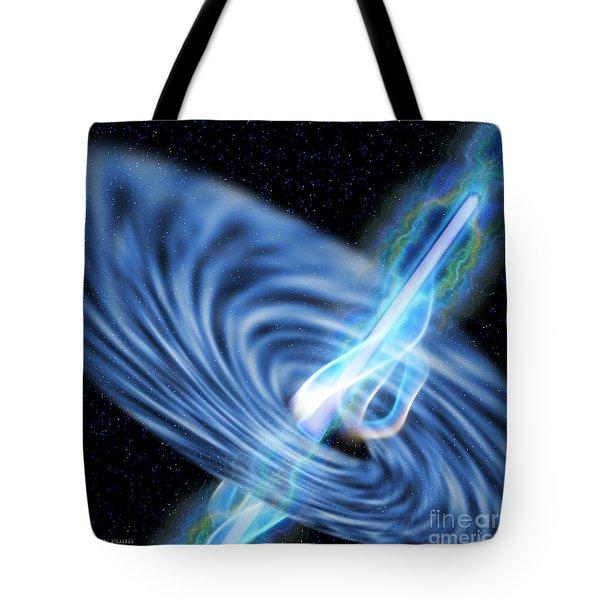 Black Hole Radiation Tote Bag