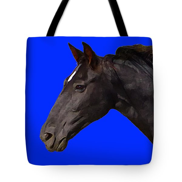 Black Horse Spirit Blue Tote Bag