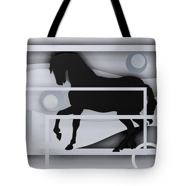 Black Horse White. Tote Bag