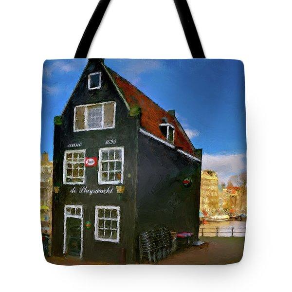 Black House In Jodenbreestraat #1. Amsterdam Tote Bag