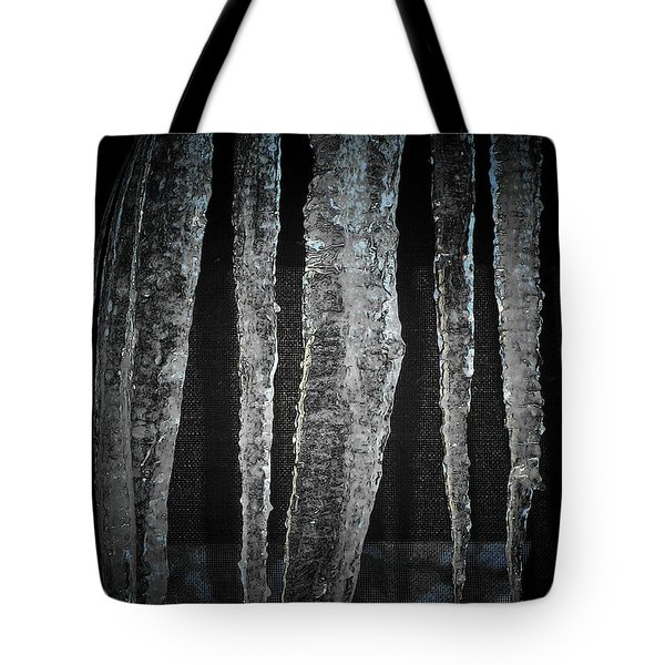 Tote Bag featuring the digital art Black Ice by Barbara S Nickerson